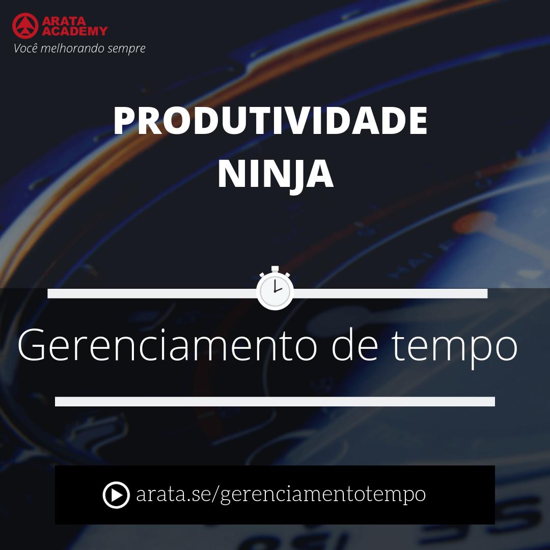 Gerenciamento de Tempo - curso Produtividade Ninja - Seiiti Arata, Arata Academy